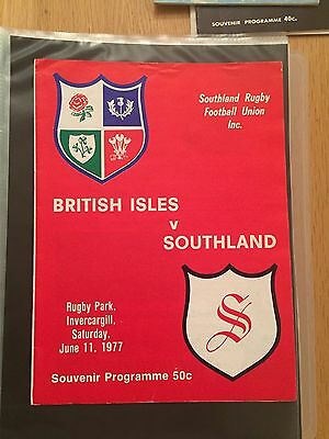 British Lions 1977 Programme British Isles V Southland June 11 1977