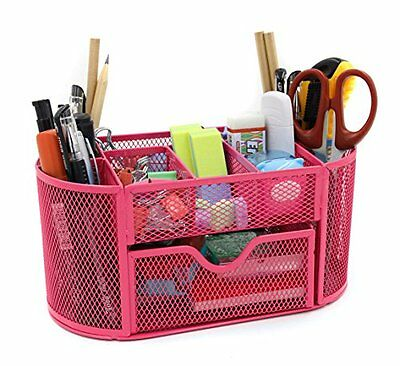 Mesh Desk Organizer Office Supply Caddy Drawer with Pen Holder Collection ...NEW