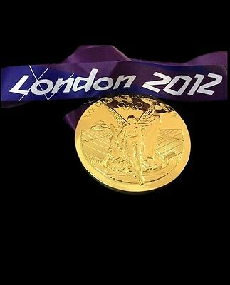 2012 London Olympic 'Gold' Medal With  Ribbon Collectable Very Rare Coin