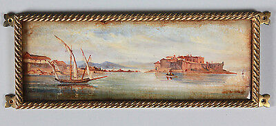 Early 19C Italian Grand Tour Antique Oil Painting