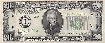1934 I/A (MINNESOTA) $20 Dollar Federal Reserve Note Bill US Currency