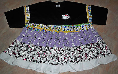 "ADULT BABY 49"" Cotton Knit Dress, w/""Hello Kitty"",  By  KT"