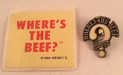 1980S Where's The Beef Sticker And Lapel Pin
