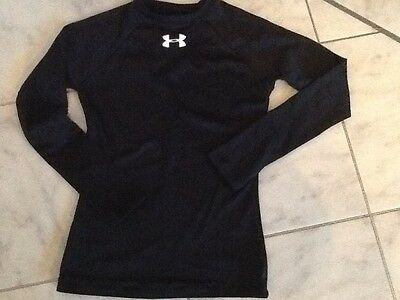 Black under armour base layer ong sleeve top youth small