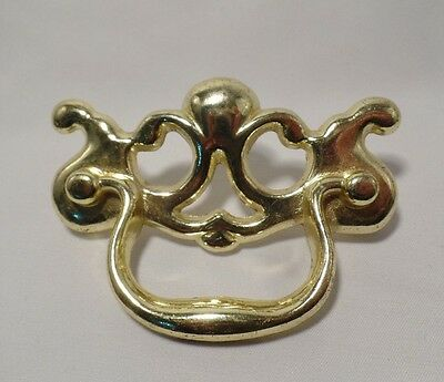 "Antique Ajax Brass Cast Drawer Pull 2.5"" on Center"