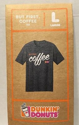 """Dunkin' Donuts """"But First, Coffee"""" Large Tee"""