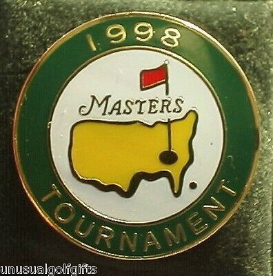 Original Masters 1998  Enamel Stem Golf Ball Marker - Very Collectable