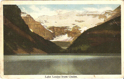 POSTCARD LAKE LOUISE FROM CHALET ALBERTA CANADA c1900s