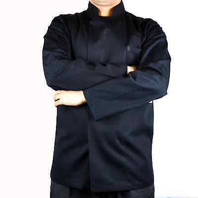Chef jacket black long sleeve polly cotton
