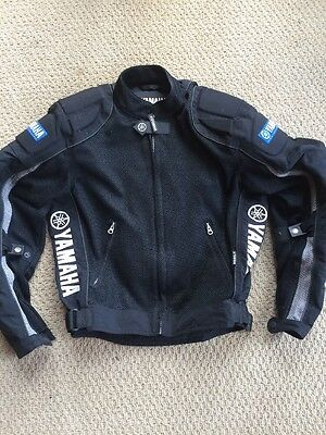 Mens Size XS YAMAHA RACING JACKET - Black Motorcycle Coat GYTR FREE SHIPPING!!!