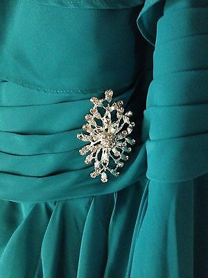 Plus size Mother of the Bride/Groom Formal Jade Green Chiffon Dress