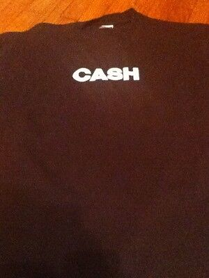 Johnny Cash Xl T-shirt Black Guc