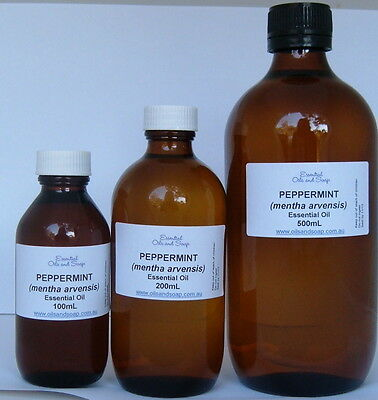 Peppermint Essential Oil - 100mL  - GREAT VALUE NATURAL PURE OIL