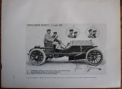 Vintage 1905 Fiat-Corso Gordon Bennett Race postcard photo-Italian Auto/Car Ad