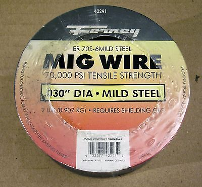 Welding Supplies: Forney Mig Wire .030, Er 70S-6 Mild Steel, 2 Lb., 1 Ea., 42291