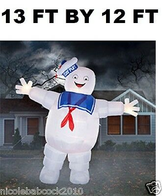 ***13 Foot* Stay Puft Marshmallow Man Ghostbusters Airblown Inflatable Prop Yard