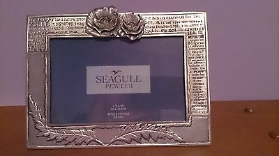 Seagull Pewter - 4 X 6 Frame With Poppies