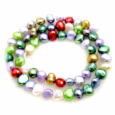 4-7mm multicolor Baroque Natural Freshwater Pearl Loose Beads Strand 14''-los736