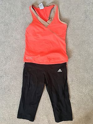 Ladies Gym Sport Outfit Set Adidas Nike S/XS Top Bottoms