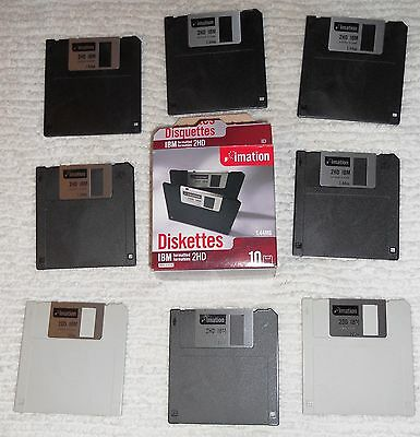 "Imation 12881 3.5"" 16-2HD Diskettes 1.44MB IBM-Formatted/ 2- 2DD - 18 TOTAL-NEW"