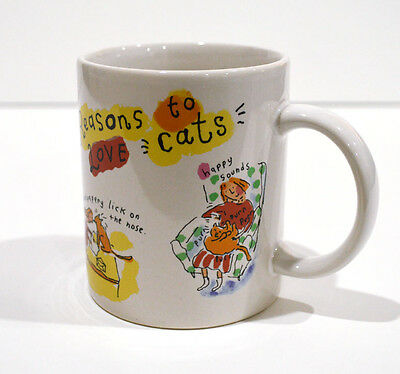 Funny REASONS TO LOVE CATS Cup Cat Mugs Kitten Kitty Mug for Cat Lovers