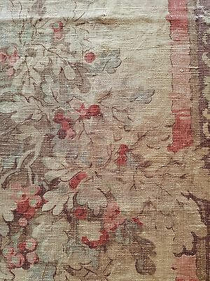 Antique Liberty London Linen Fabric RareFrench Design Madder Root Archival Study