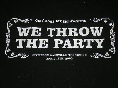 CMA We Throw The Party Crew 2005 Black Shirt XL Vg Rare