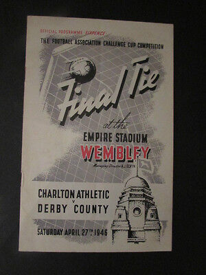 Genuine Derby County V Charlton Athletic Fa Cup Final Programme 1945 - 1946