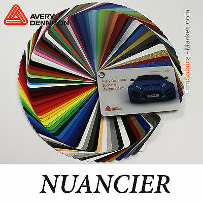Nuancier Avery Dennison Wrapping Film, 88 échantillons Vinyle COVERING samples