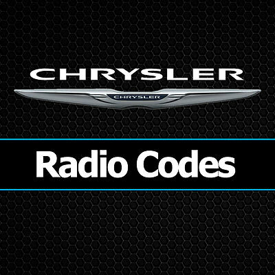 Chrysler Radio Codes Pt Cruiser Grand Voyager Decode Unlock Code All Vehicles