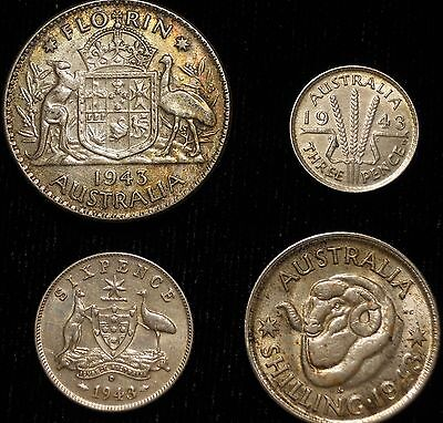 Lot Of 4 – Australia .925 Sterling Silver Coins