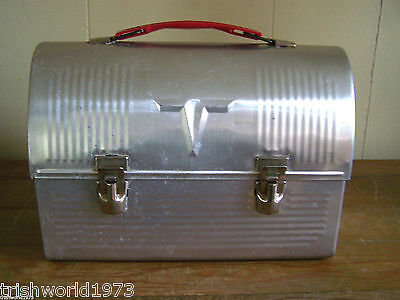 Vintage V Victory Aluminum Domed Miners Lunchbox American Thermos Co Usa
