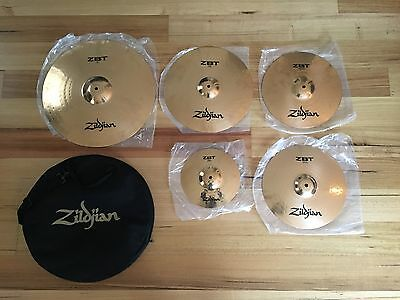 ZILDJIAN CYMBOL ZBT 5 Piece Set Used Once
