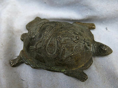CHINA old brass carved fine beautiful dragon turtle Statue