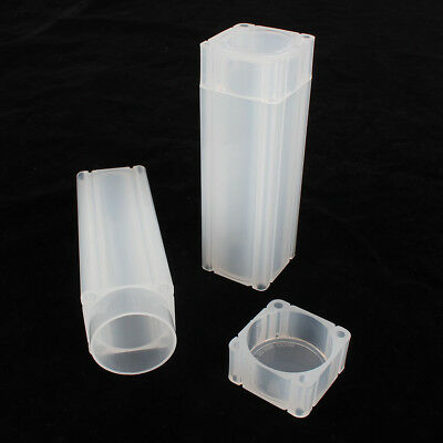 PP Coin Safe Coin Capsules Square Coin Storage Tube For Paper-Rolled Coins 30mm