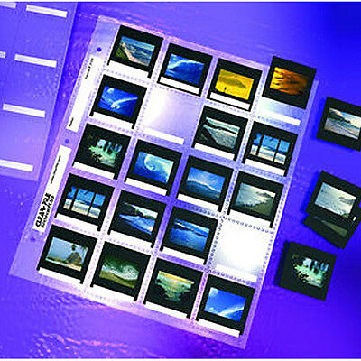 """50x CLEAR FILE 135 35mm 2x2"""" Slide Mount Pages Sleeve Archival Storage #21DX i"""