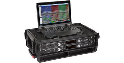 SKB 1SKB19-RSF2U Studio Flyer 2 Space Rack With Computer Compartment
