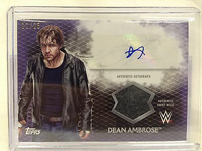 2015 Topps WWE Undisputed DEAN AMBROSE Shirt Relic AUTOGRAPH 11/25 Purple card