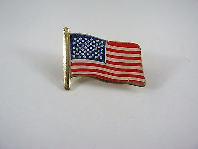 Vintage Collectible Pin: American Flag Made in Hong Kong