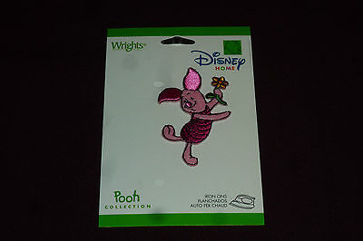 """NEW Wright's Disney Home Iron On Applique Approx 2 1/2"""" Piglet  SEALED"""