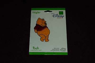 """NEW Wright's Disney Home Iron On Applique Approx 2.5""""  Winnie The Pooh SEALED"""
