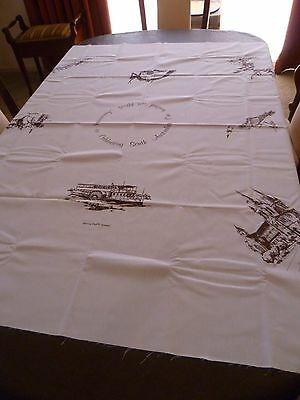 80's Vintage Hobbytex Tablecloth to Paint South Australia 150th As New Unhemmed