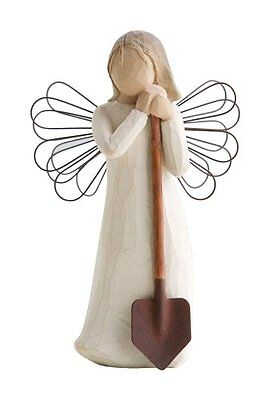 Enesco Willow Tree Scultura Angelo del Giardino, Resina, Multicolore