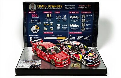 1:18 Craig Lowndes 100 Wins ATCC V8 Supercars Twin Set Holden VF Commodore 18599