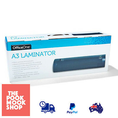 Black Laminator Laminating A6 - A3 Machine Thermal Hot Cold Pouches Electric
