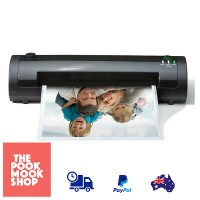Black Laminator A4-A6 Laminating Machine Thermal Hot Office Equipment Electric
