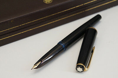 Authentic MONTBLANC No.32 Fountain Pen 585 on Nib w/case Free Shipping 850f20