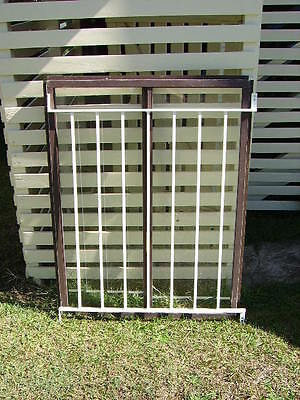 Aluminium Window Frame With Sliding Glass And Grille