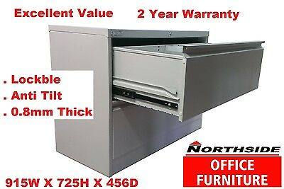 STEEL METAL 2 DRAWER LATERAL FILING CABINET-Home & Office - Clearence Sale