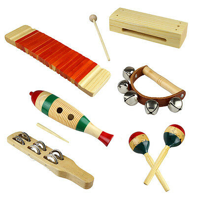 Musical Instrument Percussion Wooden Set for Kids Child Educational Toys Gift